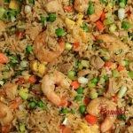 Chaulafan mixto con camarones y carne