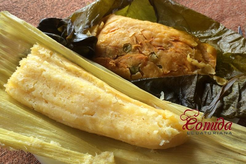 Humita y tamal ecuatoriano