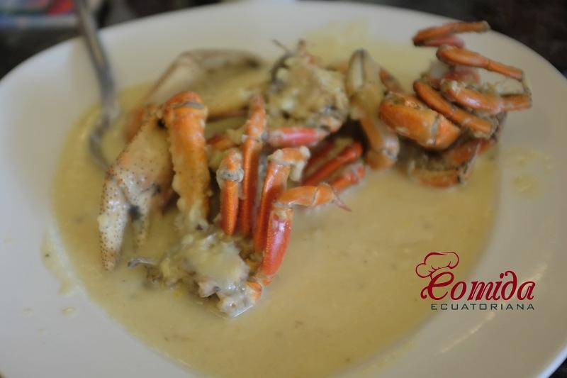 Receta de cangrejos ecuatorianos al ajillo