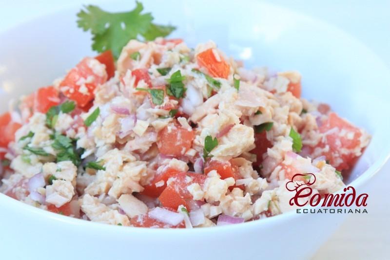 Ensalada de atún - receta ecuatoriana